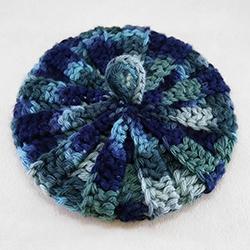Tawashi coton bayadère 10 cm