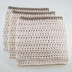 Trio lavettes coton bio 10 cm